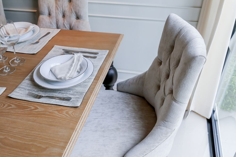 Look for sturdy structure when choosing dining chairs.