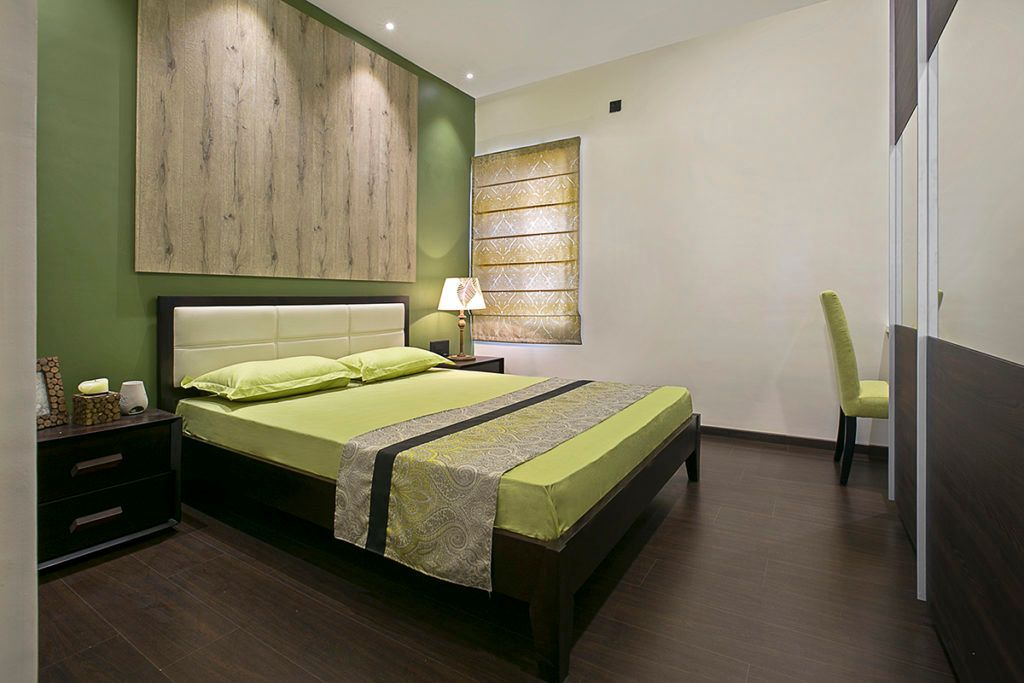 Earthy tones used for guest room