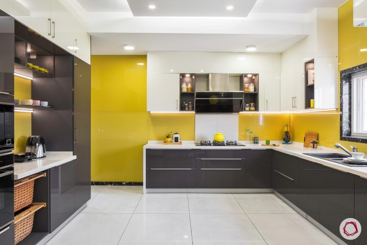 finish for kitchen cabinets-acrylic-laminate-yellow-grey