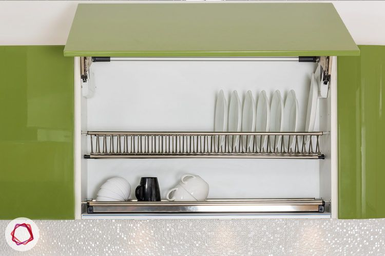 Modular kitchen cabinet - Lift up with cutlery rack