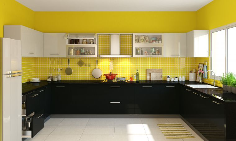 two cook kitchen design with U shaped layout