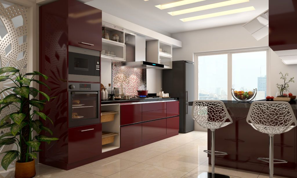 Kitchen for senior citizens - wall mounted appliances