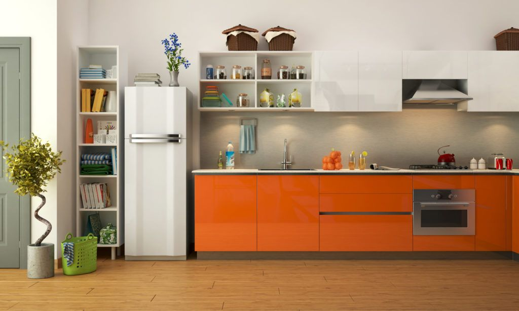 Kitchen for senior citizens - orange kitchen