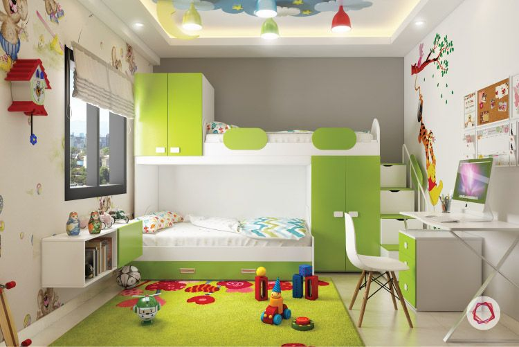 Shared Kids' Bedroom - With Storage