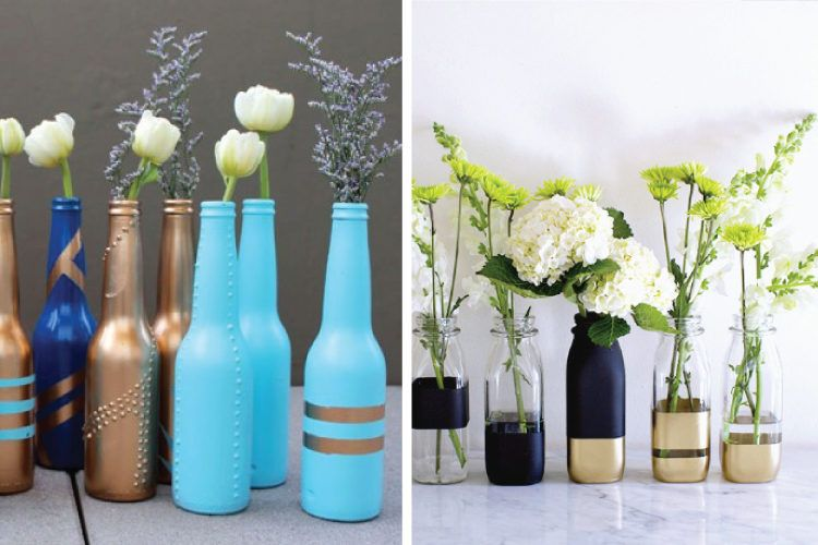 Vases out of bottles