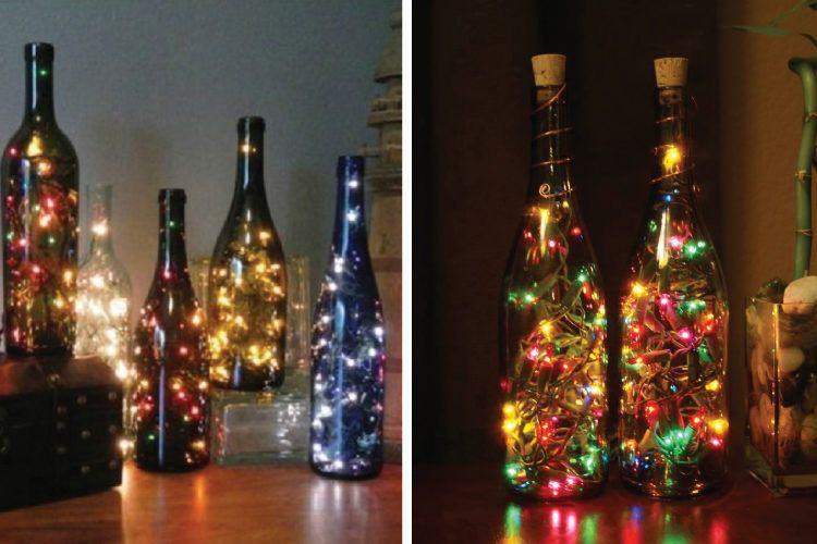 Mood lamps inside bottle