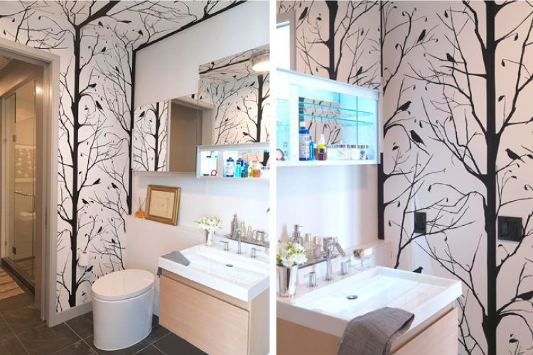 Bathroom decorating tips_use interesting patterns