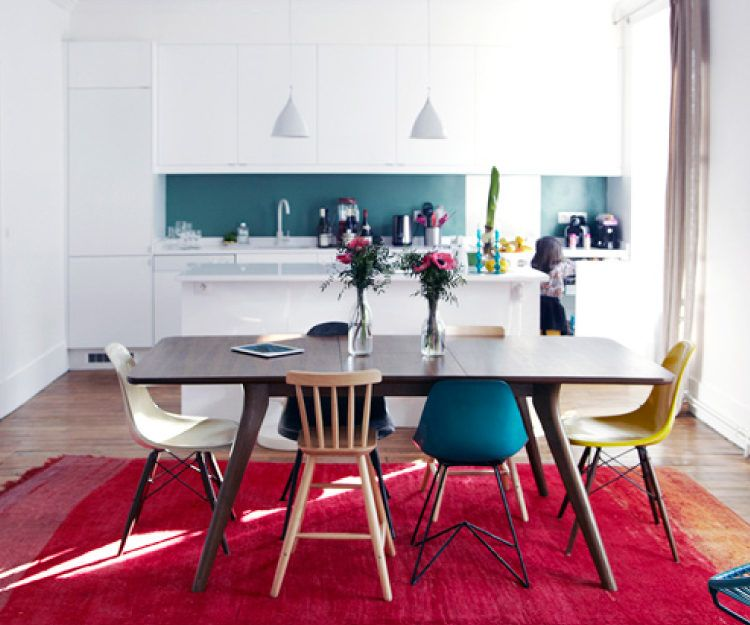 Add some intrigue by mixing it up with different styles when choosing dining chairs.