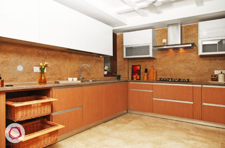 Delhi kitchen interior design - large and spacious kitchen