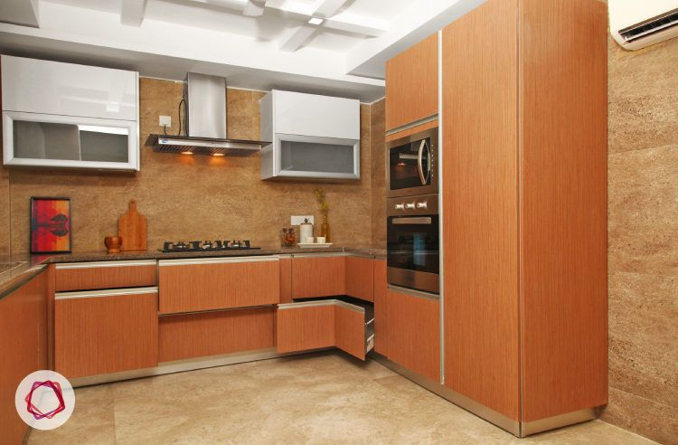 Delhi kitchen interior design - smart modular storage options