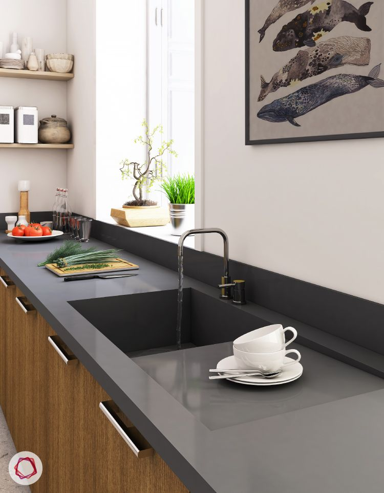 standard kitchen dimensions-kitchen counter height-countertop and sink