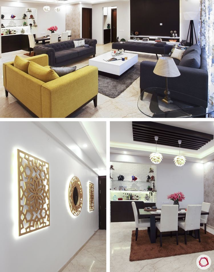 This Bangalore Livspace home merges rustic sensibilities with modern aesthetics.
