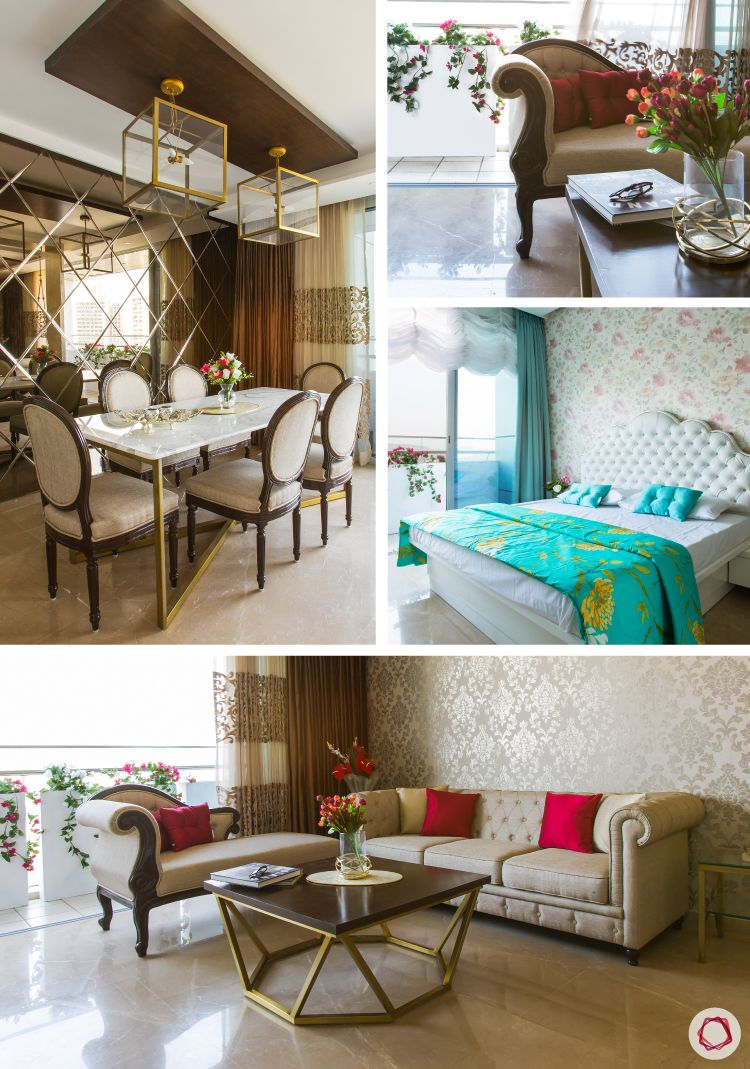 A Marie Antoinette-style Livspace home tour in Mumbai.