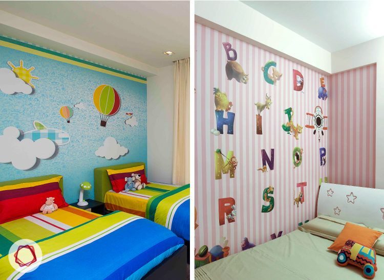 Give your kid a fun wall with this alphabetical accent wall.