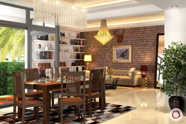 How to separate living and dining areas