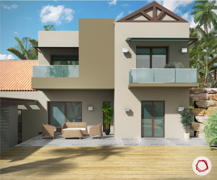 Exterior paint colors for Indian homes_beige walls