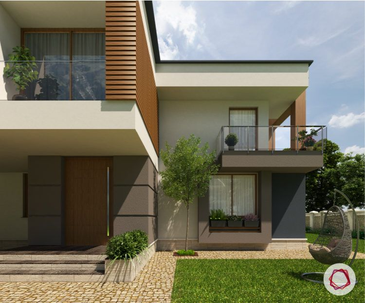 Exterior paint colors for Indian homes_brown walls_cream walls