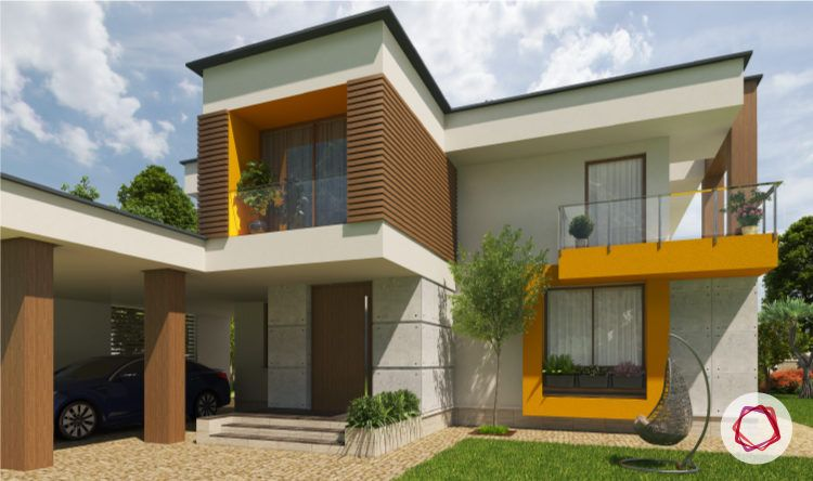 Exterior paint colors for Indian homes_bright colors