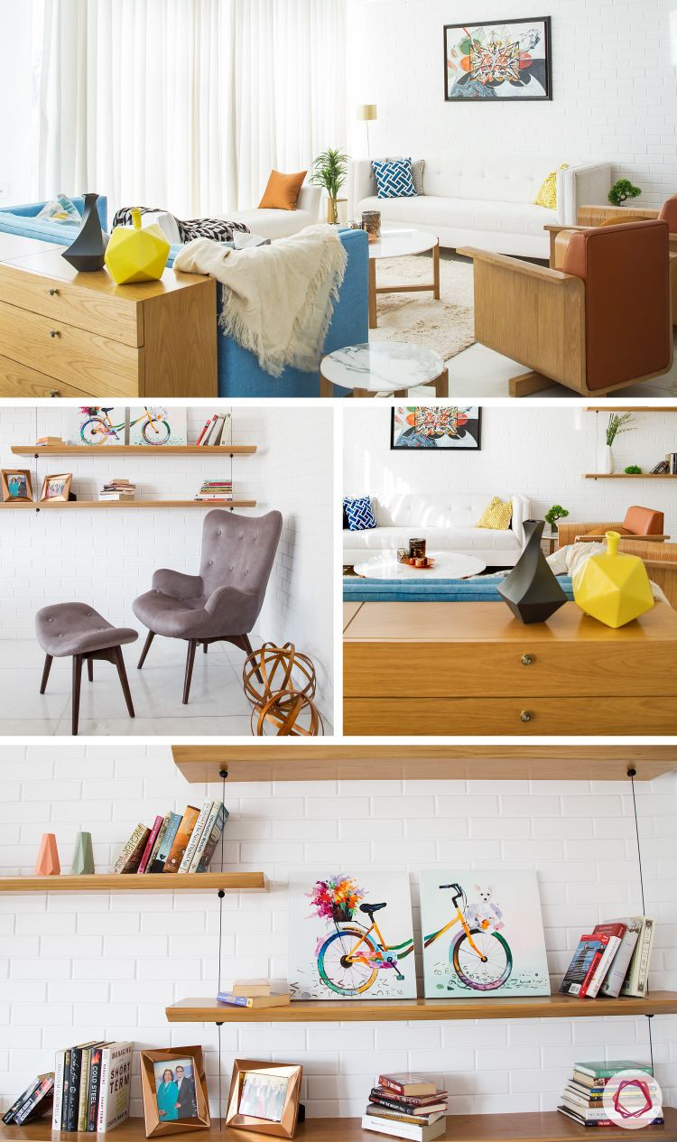 Mumbai Home Tour - Sleek seating and storage