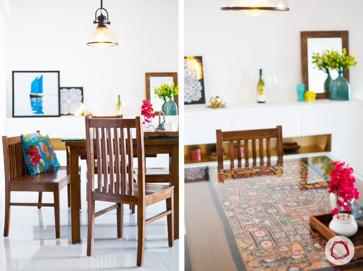 Mumbai interior design-teak dining table