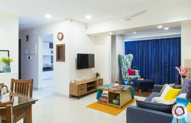 Mumbai interior design-living room night view