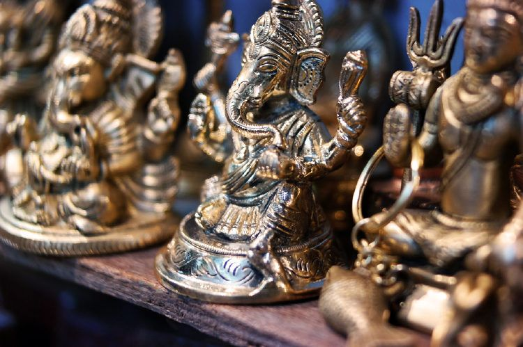 Brass can sometimes form patina. Use our pooja room cleaning tips to get rid of it.
