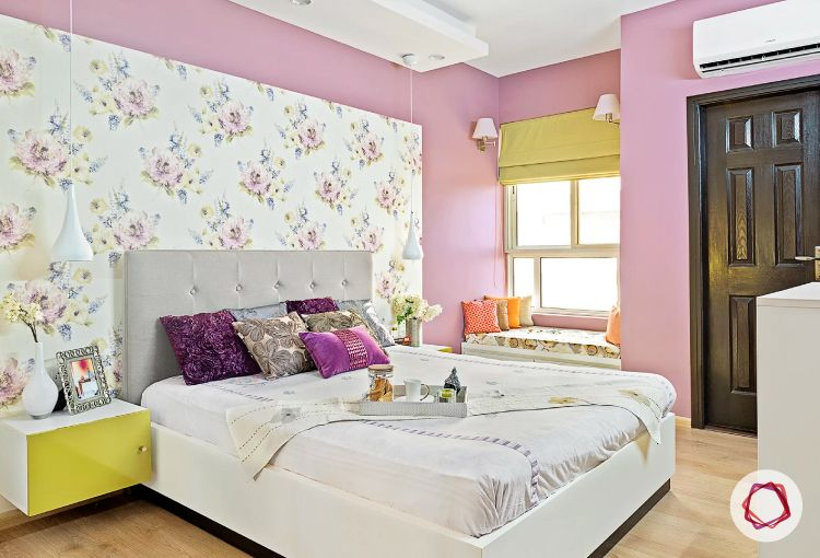 Noida interior design_lilac bedroom