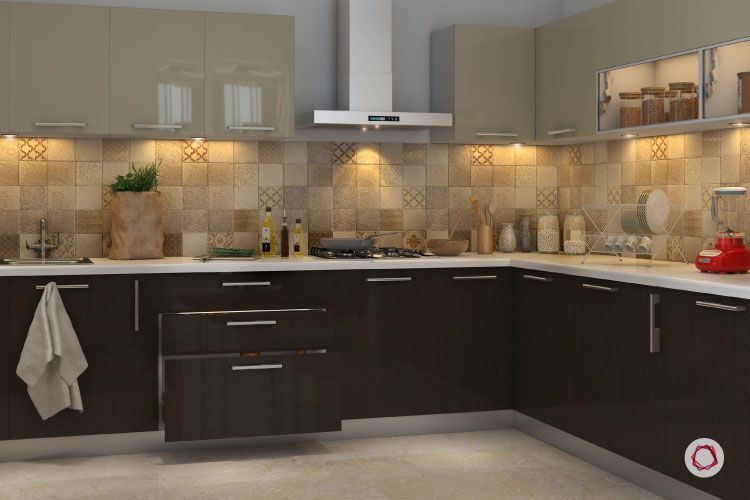 Bangalore interior design_L shape kitchen