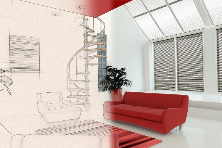 interior design guide_living room sketch