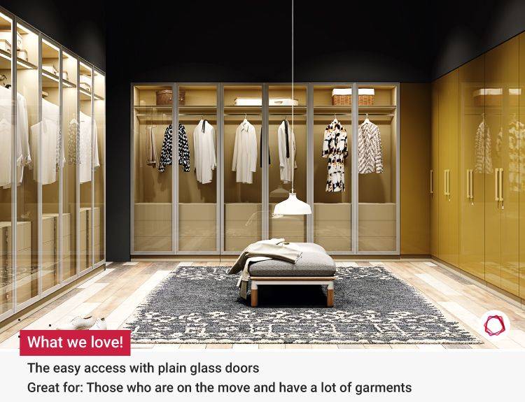 glass wardrobe designs