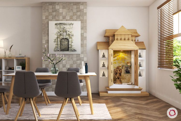 Made Of Wood Inspiring Pooja Rooms For Your Home