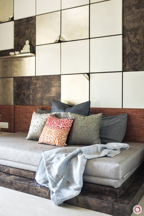 wall design-panelled wall designs-sofa-cum-bed designs