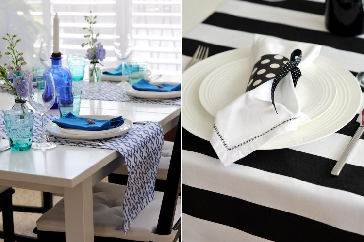 Small budget big makeover-table runners