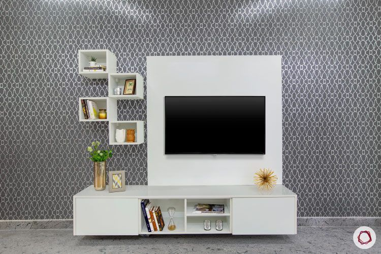 villas-in-bangalore-grey-wallpaper-TV-unit