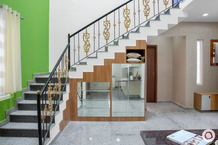 villas-in-bangalore-staircase-storage