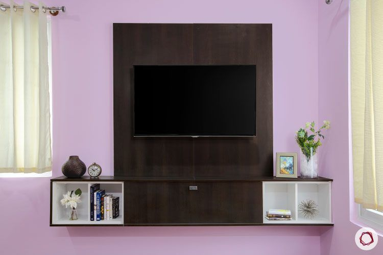 villas-in-bangalore-purple-TV-unit