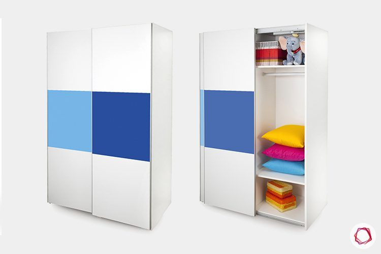 kids-furniture-blue-and-white-wardrobe