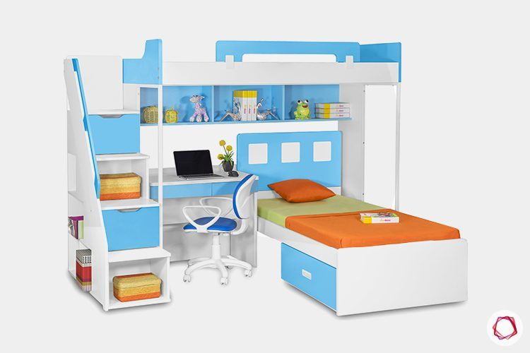 kids-furniture-study-table-ladder-bunk-bed