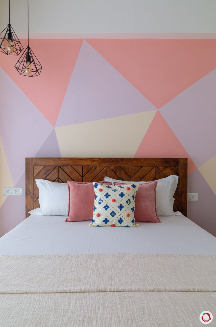 paint or wallpaper indian walls-pendant lights-pink and purple wall