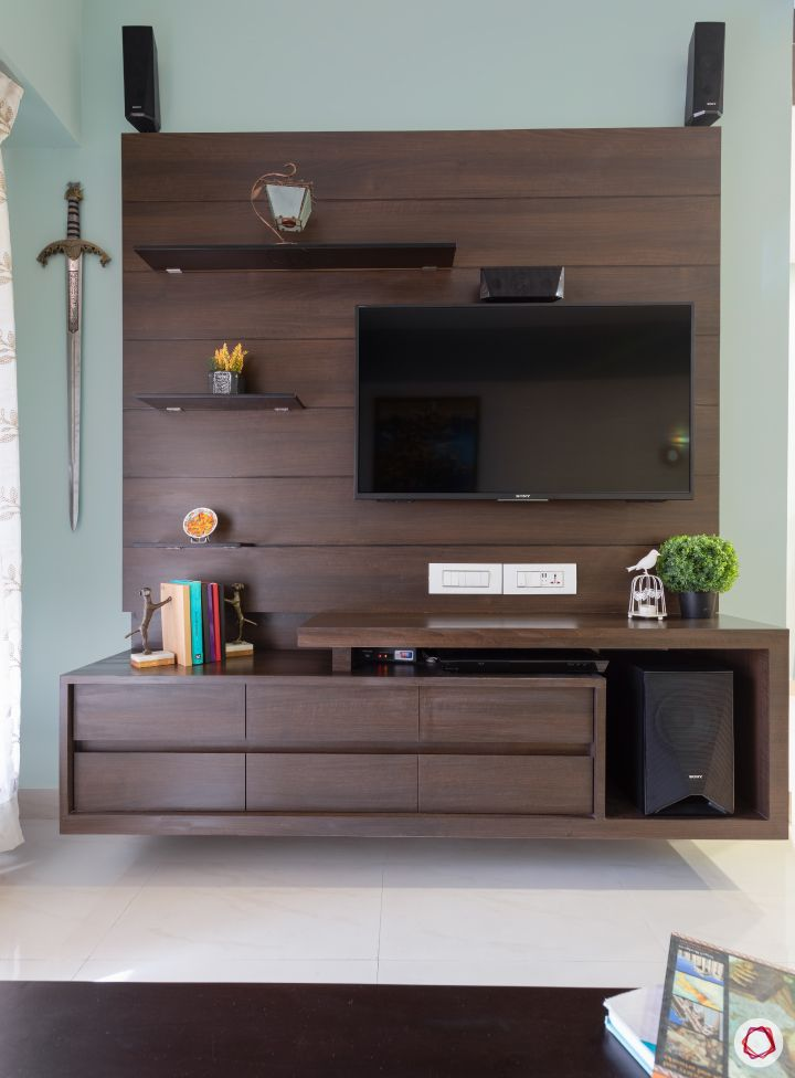 Indian house plans_living room tv unit