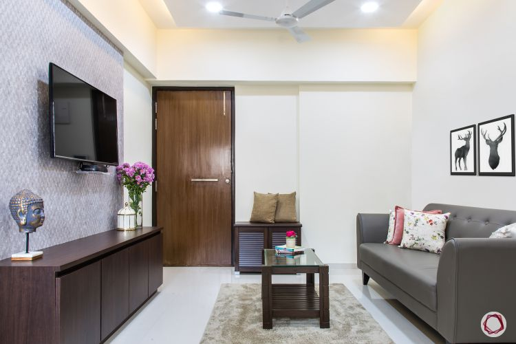 Interior design for 1bhk flat_full living room