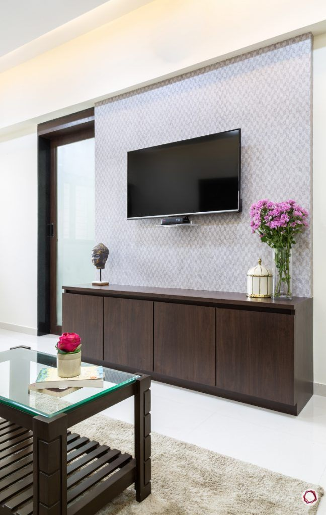 Interior design for 1bhk flat_living room tv unit