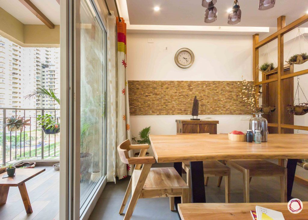 Best interior designers in bangalore_dining room-wooden-table