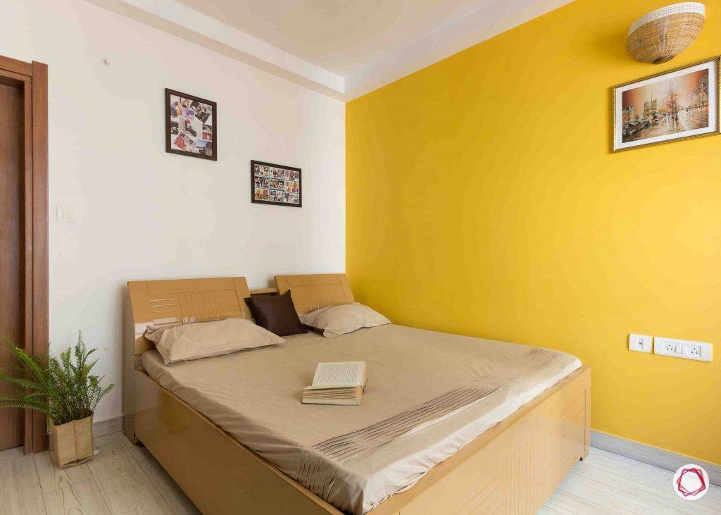 Best interior designers in bangalore_guest-bedroom-yellow-wall