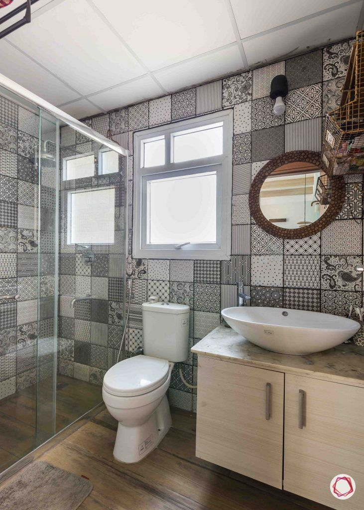bathroom-sink-counter-cabinets-white-patterned-tiles