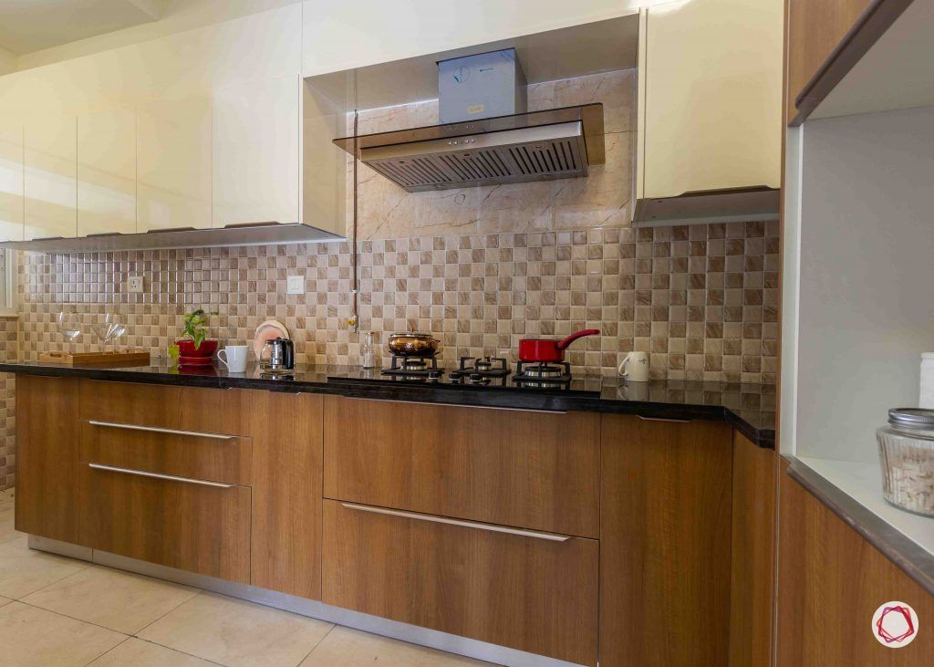 latest house design brown and white kitchen cabinets