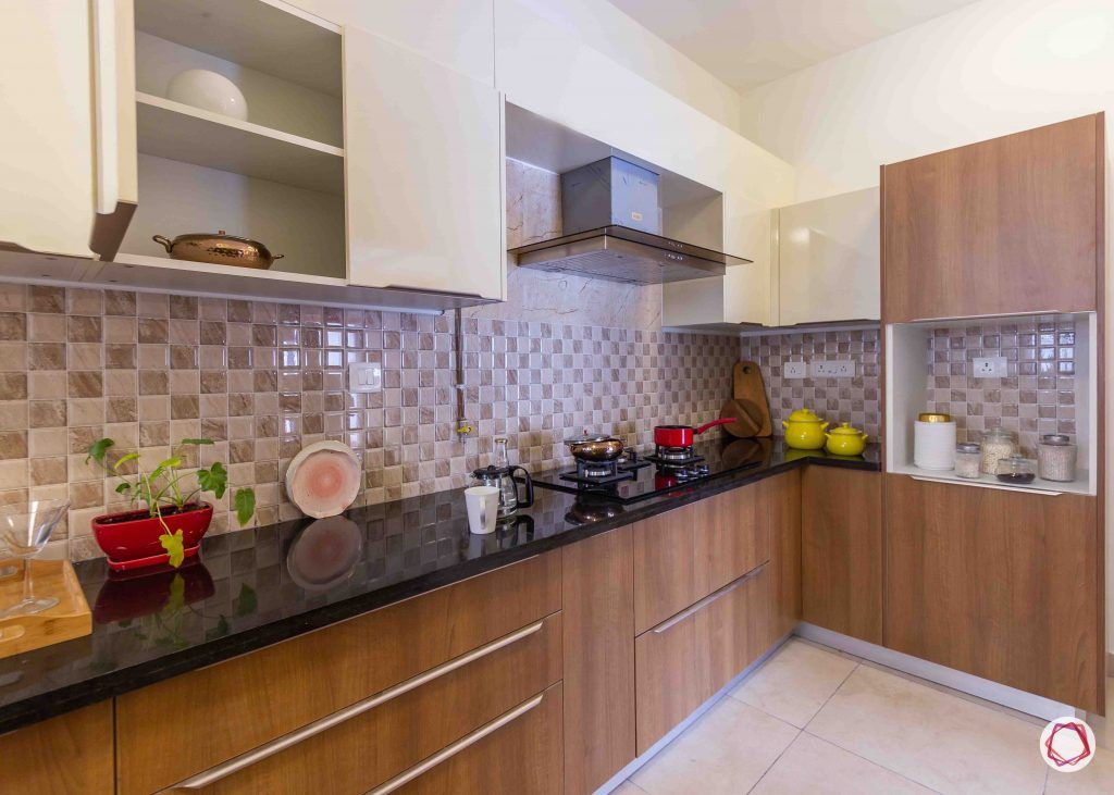 latest house design brown and white kitchen