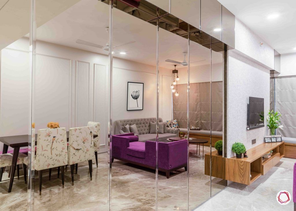 apartment design_mirror panel ideas-tinted mirror designs