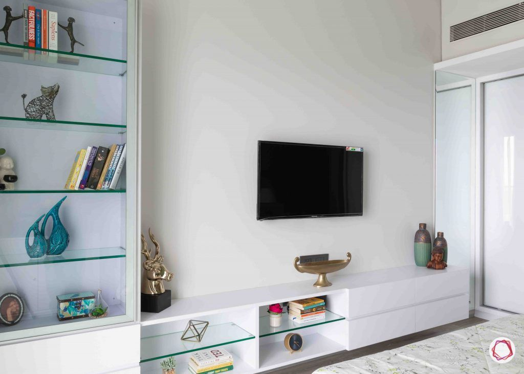 apartment design_minimal tv unit-glass book racks
