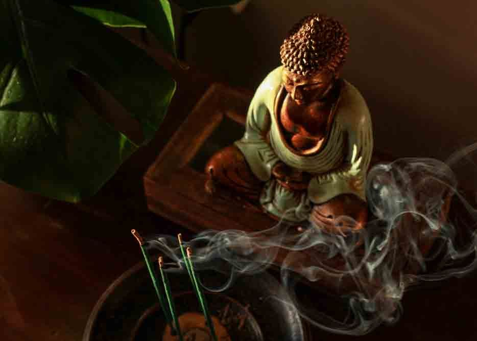 where to keep buddha statue in the house meditating
